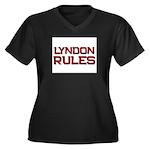lyndon rules Women's Plus Size V-Neck Dark T-Shirt