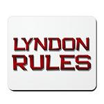 lyndon rules Mousepad