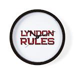 lyndon rules Wall Clock