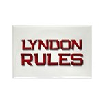lyndon rules Rectangle Magnet (10 pack)