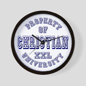 Christian Property of University Wall Clock