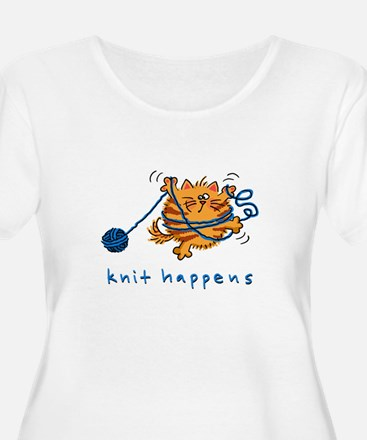 Fluffles Knit Happens10 Plus Size T-Shirt