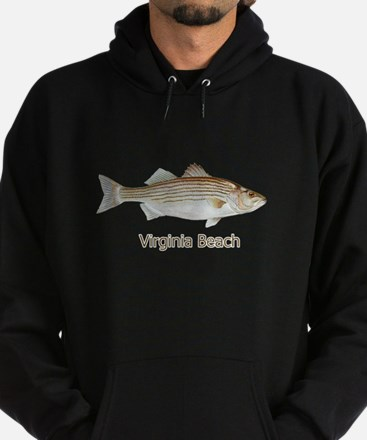 Striped Bass-Rockfish Hoodie (dark)