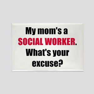Mom SW Excuse Rectangle Magnet