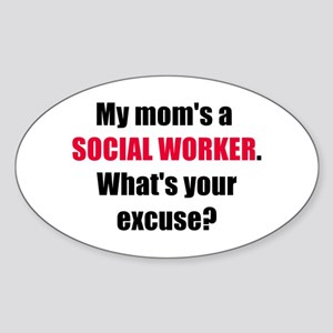 Mom SW Excuse Oval Sticker