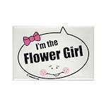 Flower Girl Rectangle Magnet (100 pack)