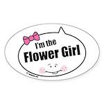 Flower Girl Oval Sticker