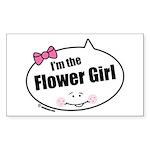 Flower Girl Rectangle Sticker 50 pk)
