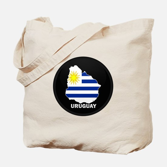 Flag Map of Uruguay Tote Bag