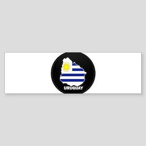 Flag Map of Uruguay Bumper Sticker