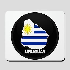 Flag Map of Uruguay Mousepad