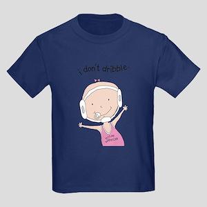 I Don't Dribble - Girl Kids Dark T-Shirt