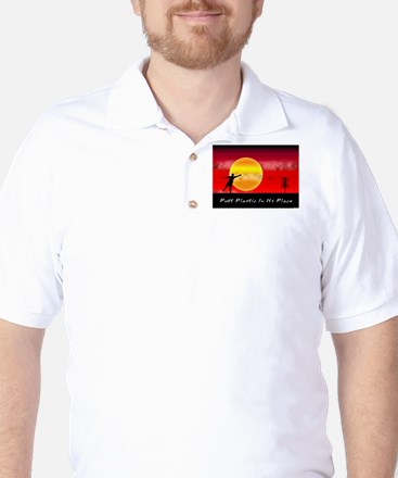 Putt Plastic In Its Place Golf Shirt
