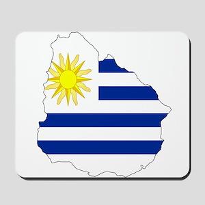 Uruguay Flag Map Mousepad