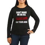 Cleveland Baseball Women's Long Sleeve Dark T-Shir