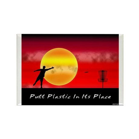 Putt Plastic In Its Place Rectangle Magnet