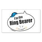 Ring Bearer Rectangle Sticker 50 pk)