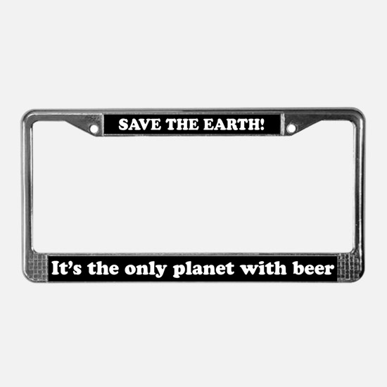 Save The Beer License Plate Frame