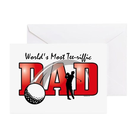 Tee-riffic Dad Greeting Cards (Pk of 10)