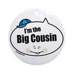 Boy Big Cousin Ornament (Round)