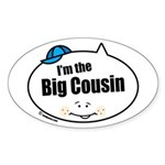 Boy Big Cousin Oval Sticker