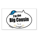 Boy Big Cousin Rectangle Sticker 50 pk)