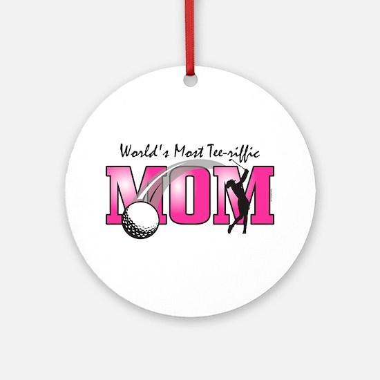 Tee-riffic Mom Ornament (Round)