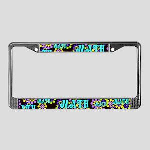 Mathadelic Surf License Plate Frame