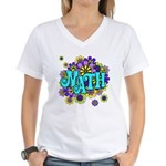Mathadelic Surf Women's V-Neck T-Shirt