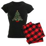 Leaping Borzoi Christmas Tree Pajamas