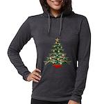 Leaping Borzoi Christmas Tree Long Sleeve T-Shirt
