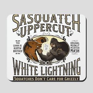 Sasquatch Uppercut White Lightning Mousepad