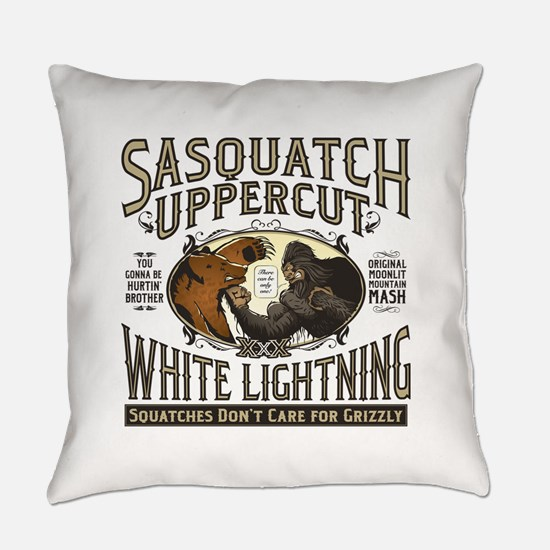 Sasquatch Uppercut White Lightning Everyday Pillow