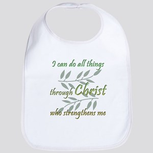 Christ Strengthens Me Bib
