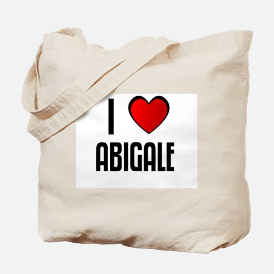 I LOVE ABIGALE Tote Bag