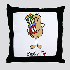 Book Nut Throw Pillow