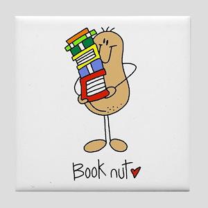 Book Nut Tile Coaster