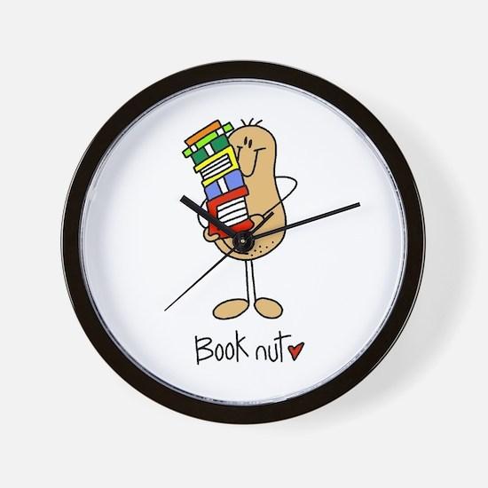 Book Nut Wall Clock
