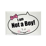 Not a Boy Funny Rectangle Magnet (100 pack)