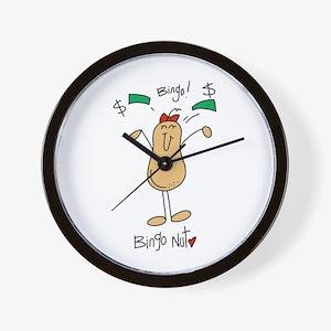 Bingo Nut Wall Clock