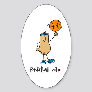 Basketball Nut Sticker (Oval)