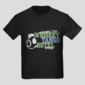 Aviation Whiskey Tango Hotel Kids Dark T-Shirt