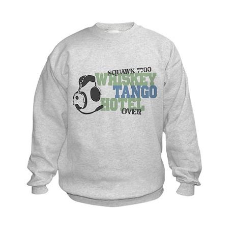 Aviation Whiskey Tango Hotel Kids Sweatshirt