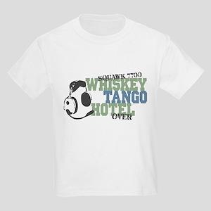 Aviation Whiskey Tango Hotel Kids Light T-Shirt