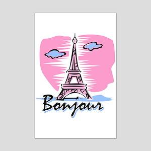 Bonjour Paris Mini Poster Print
