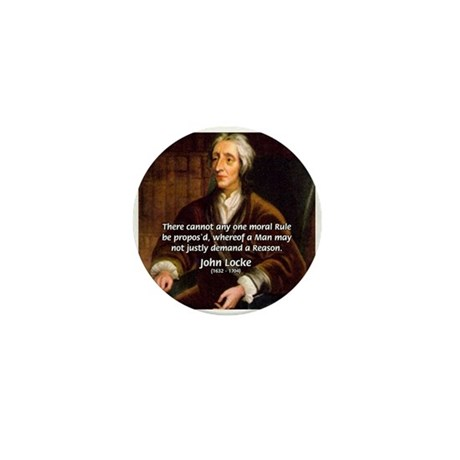Philosophy John Locke Mini Button