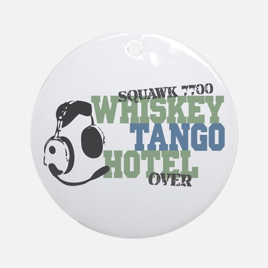 Aviation Whiskey Tango Hotel Ornament (Round)
