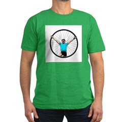 Cyclist Victory! Men's Fitted T-Shirt (dark)