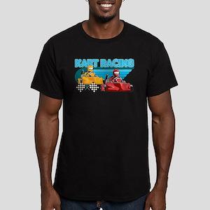 Kart Racing Men's Fitted T-Shirt (dark)