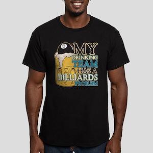 Billiards Drinking Tea Men's Fitted T-Shirt (dark)